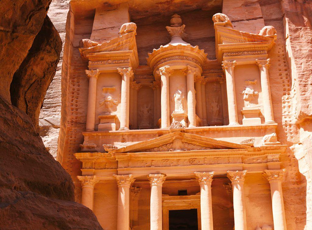 Cidade d e Petra na Jordânia