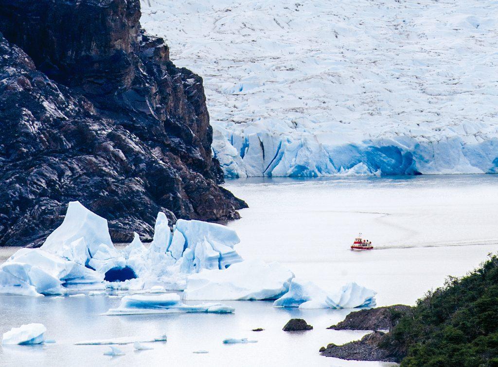 Campos de gelo na Patagônia